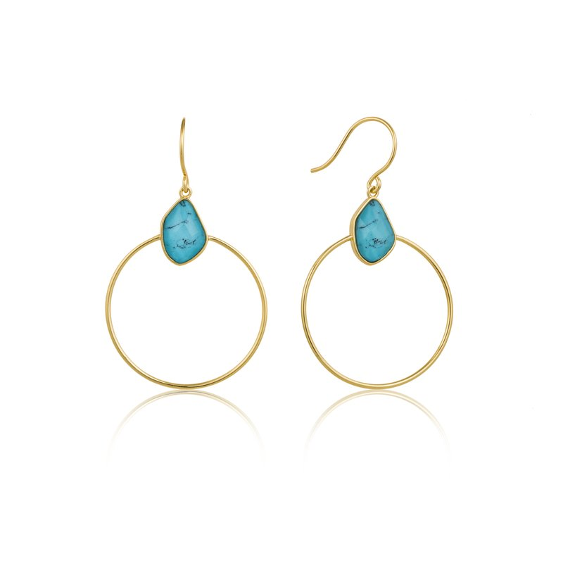 Ania Haie Turquoise Front Hoop Earrings