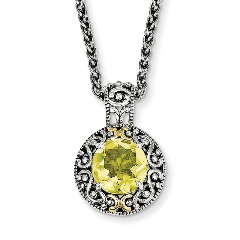 Shey Couture Sterling Silver w/14k Lemon Quartz Necklace