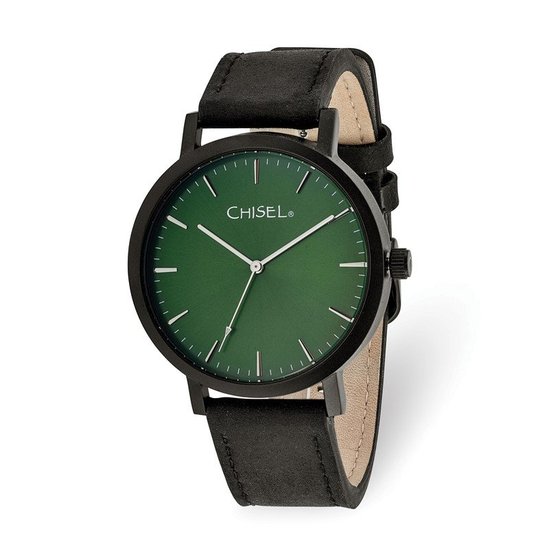 Chisel Chisel Matte Black IP-plated Green Dial Watch