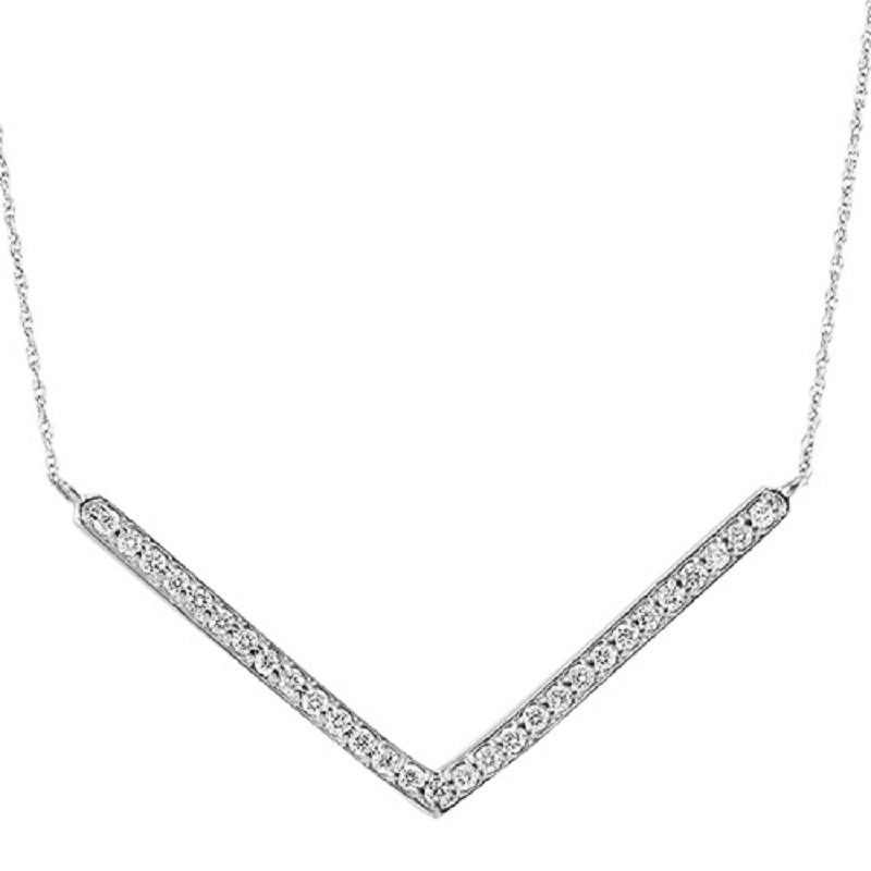 Mixables Silver Diamond Pendant 1/4 ctw