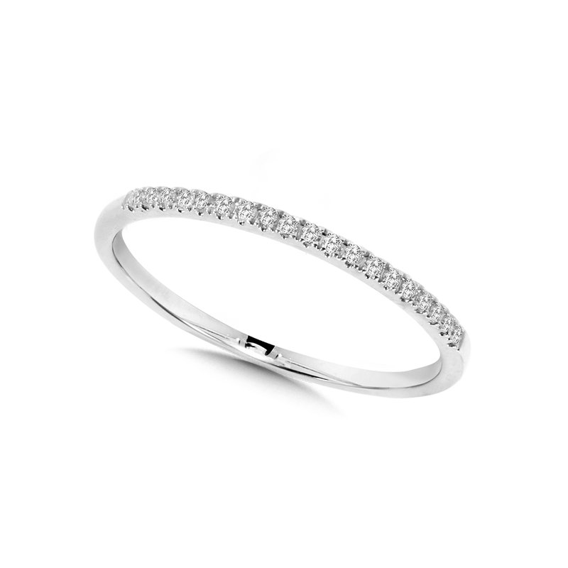 SDC Creations 10K White Gold Petite Stackable Diamond Band