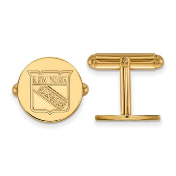 Gold-Plated Sterling Silver New York Rangers NHL Cuff Links