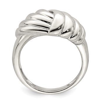 Sterling Silver Weaved Scalloped Ring