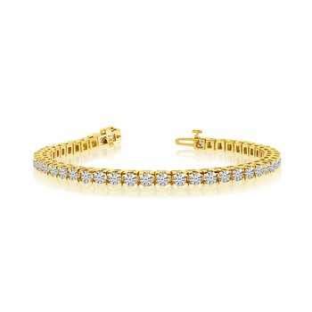 14k Yellow Gold 6 Ct. Classic Diamond Tennis Bracelet