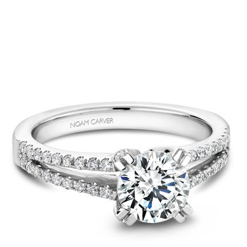 Noam Carver Modern Engagement Ring B002-03A
