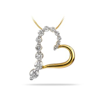 14K YG Diamond Journey Pendant