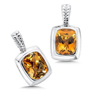 Sterling Silver Citrine Essentials Post Earrings