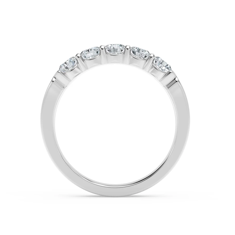 Forevermark 5 Stone Ladies Diamond Wedding Band