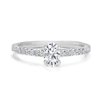 Oval Pavé Diamond Engagement Ring
