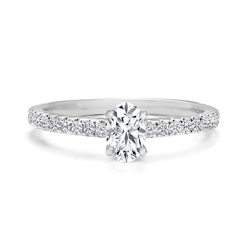 Oval Pave Diamond Engagement Ring
