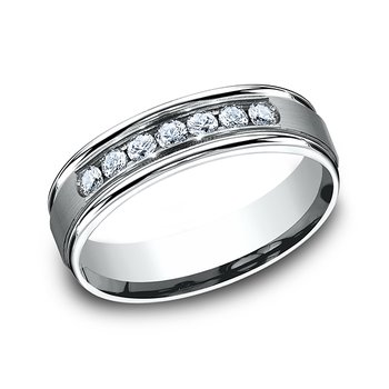 Comfort-Fit Diamond Wedding Ring