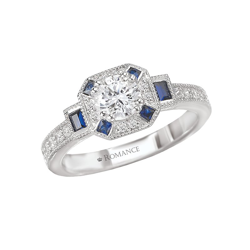 Romance Sapphire and Diamond Ring