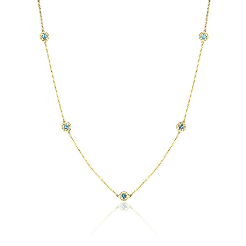 Tacori Fashion 5-Station Petite Gemstone Necklace with London Blue Topaz