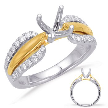 Yellow & White Gold Engagement Ring