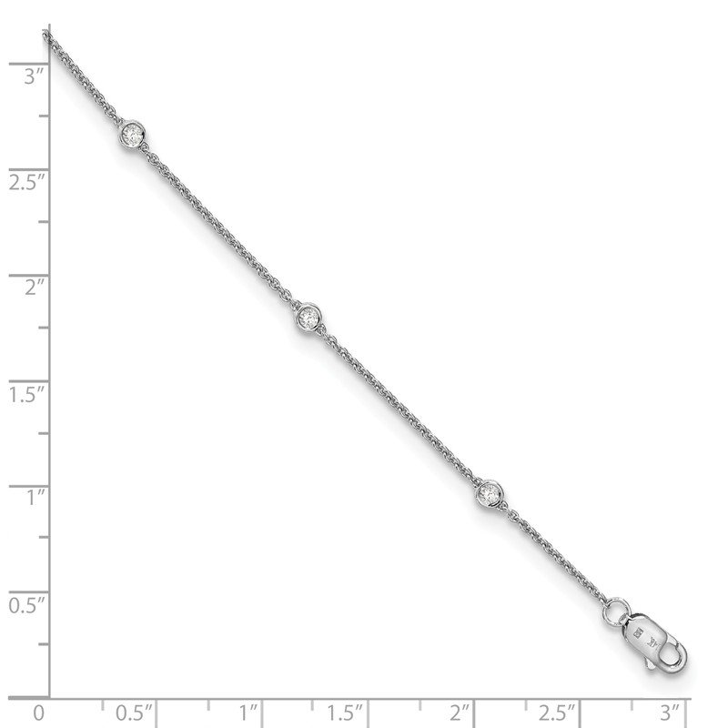 True Origin 14kw True Origin Lab Grown Diamond VS/SI D,E,F Rolo Bracelet
