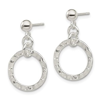 Sterling Silver Dangling Circle Earring