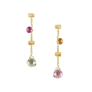 "Paradise Mixed Stone 1.33"" Drop Earrings"