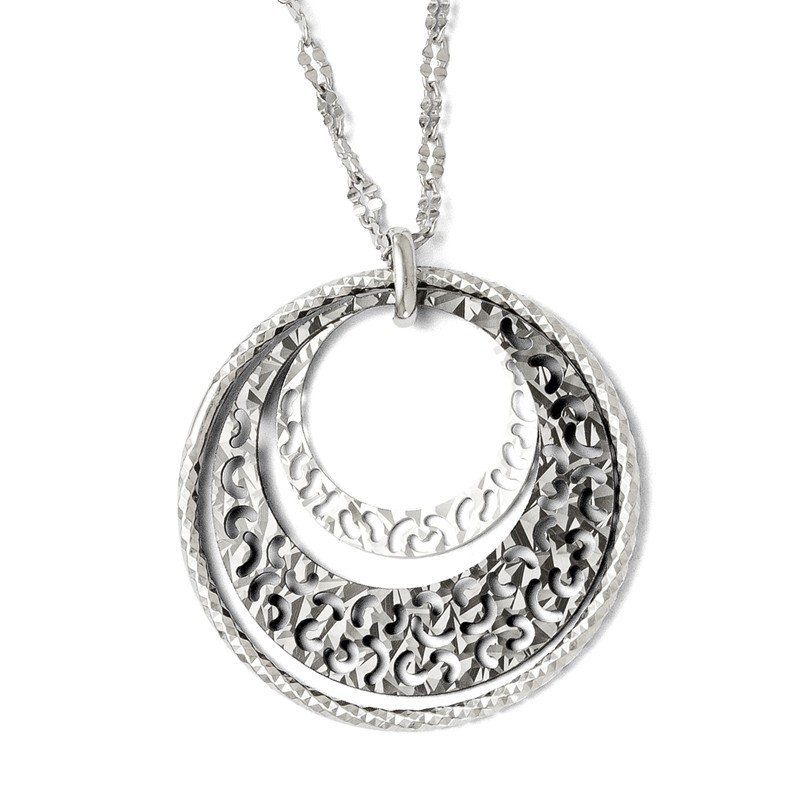 Leslie's Leslie's Sterling Silver Ruthenium-plated w/2in ext. Necklace