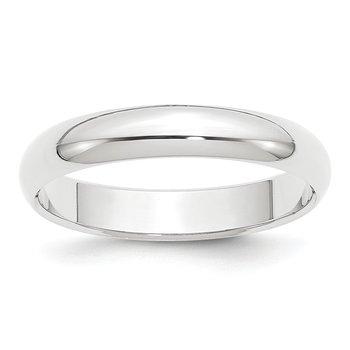 Platinum 4mm Half-Round Wedding Band
