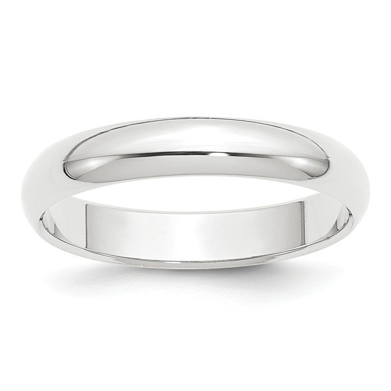 Lester Martin Online Collection Platinum 4mm Half-Round Wedding Band