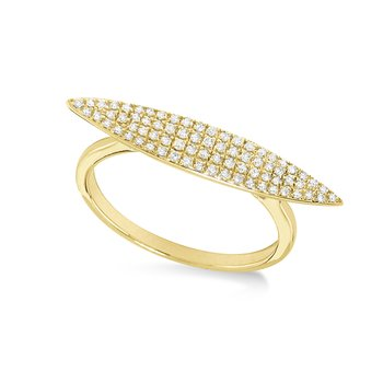 14K Gold and Diamond Pod Ring