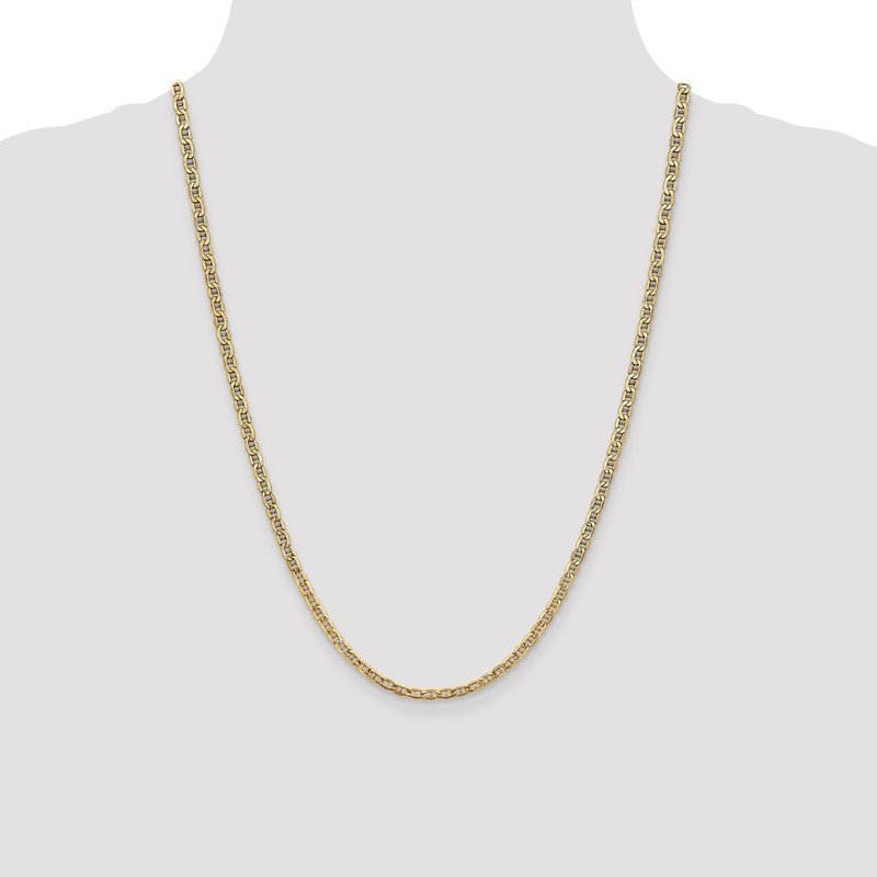 Quality Gold 10k 3.2mm Semi-Solid Anchor Chain