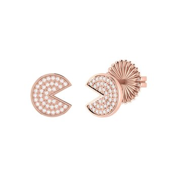 Pac-Man Candy Earrings in 14 KT Rose Gold Vermeil on Sterling Silver