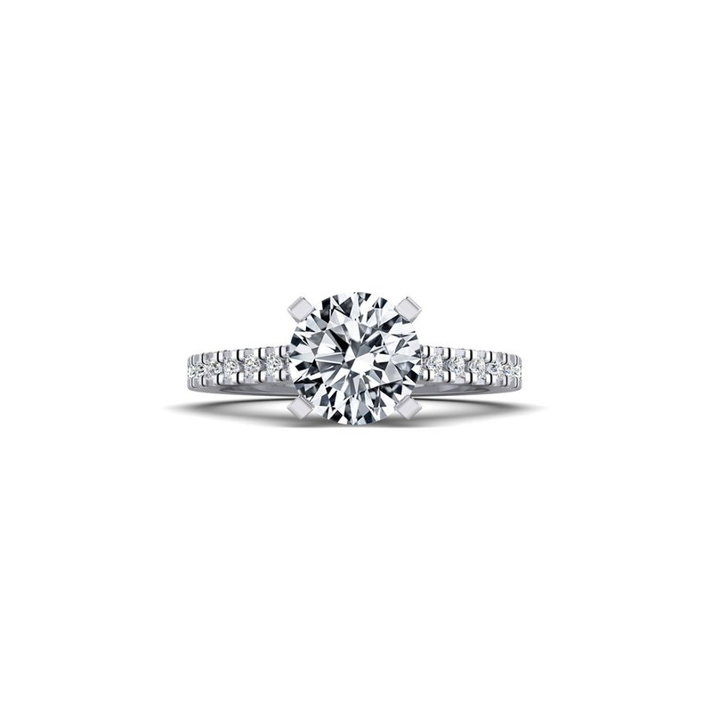 Classic Straight Diamond Design Engagement Ring