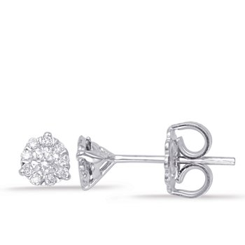 Three Prong Earring Setting .20ct
