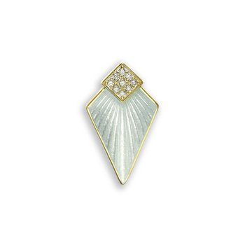 White Art Deco Pendant.18K -Diamond