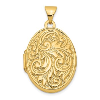 14k Love You Always Swirl Reversible Locket