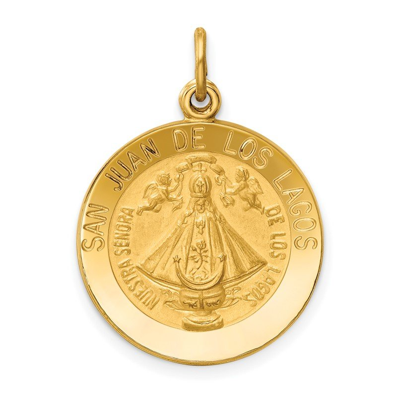 Quality Gold 14k Our Lady of San Juan Medal Pendant