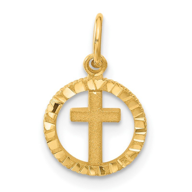 Arizona Diamond Center Collection 14K Eternal Life Cross in Circle Charm