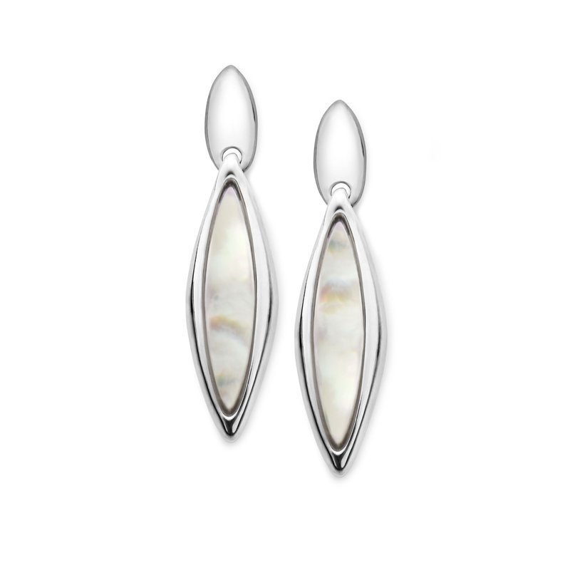 Nambé Jewelry Marquise Earrings - Mother of Pearl