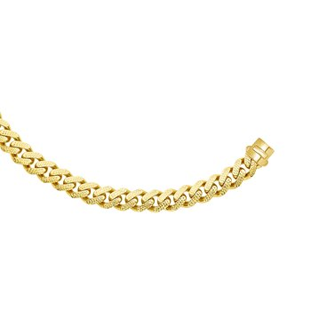 14K Gold 13.5mm Yellow Pave Lite Miami Cuban