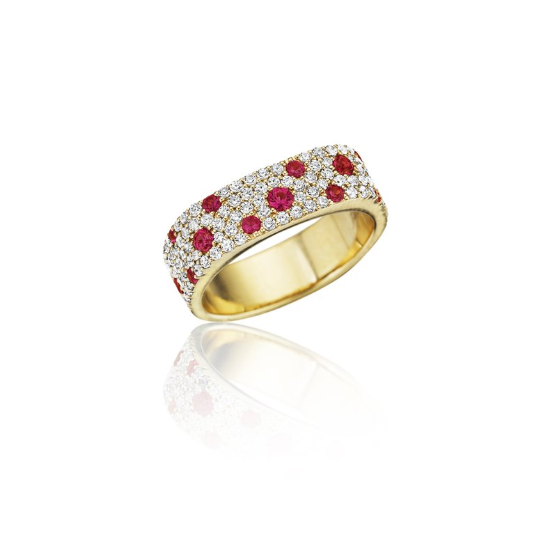 Fana Under the Stars Ruby-Speckled Diamond Ring