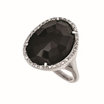 Sterling Silver .045ct. Dia Gem Candy Ring