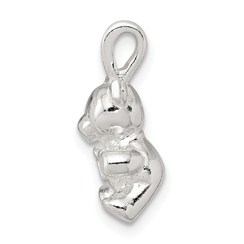 Quality Gold Sterling Silver Teddy Bear Charm