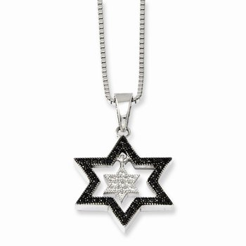Sterling Silver & CZ Brilliant Embers Star Necklace