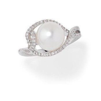 White Pearl Ring-CRP9004WWH