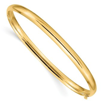 14k 3/16 Oversize High Polished Hinged Bangle Bracelet