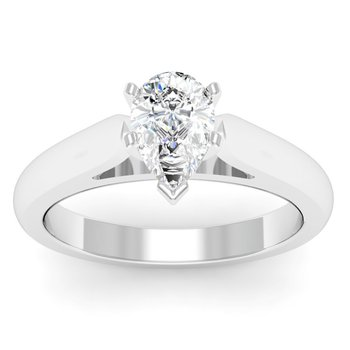 Cathedral Engagement Ring with Tapered Shank
