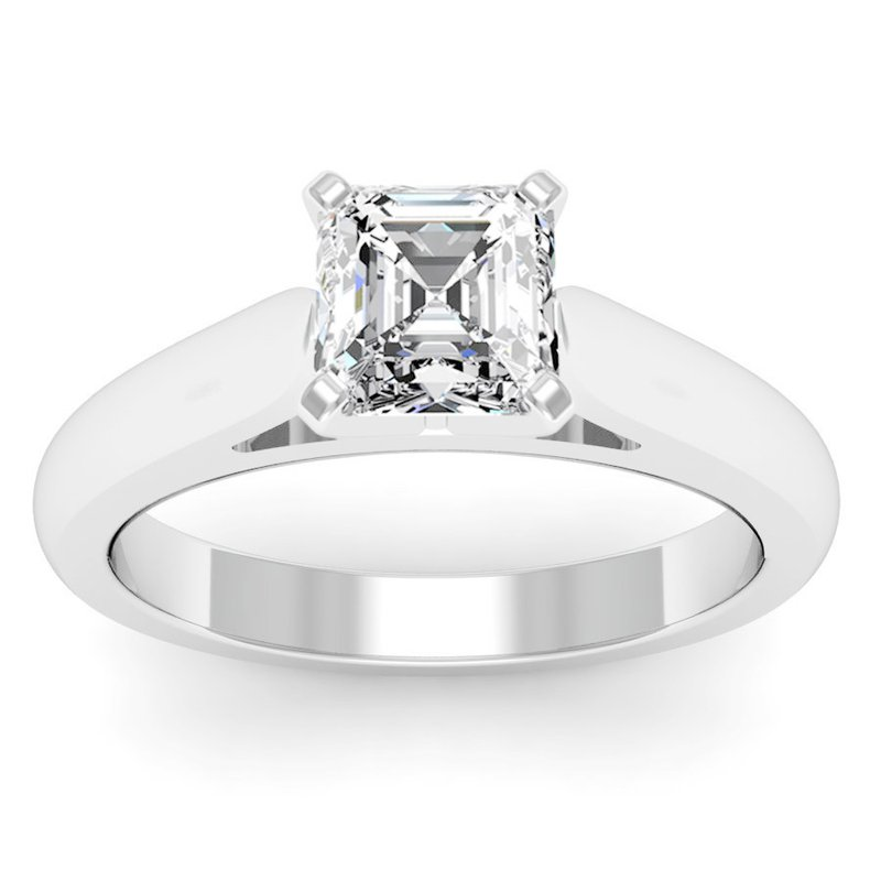 California Coast Designs Cathedral Engagement Ring with Tapered Shank
