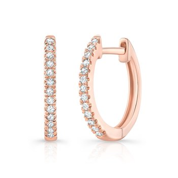 Rose Gold Huggie Hoops
