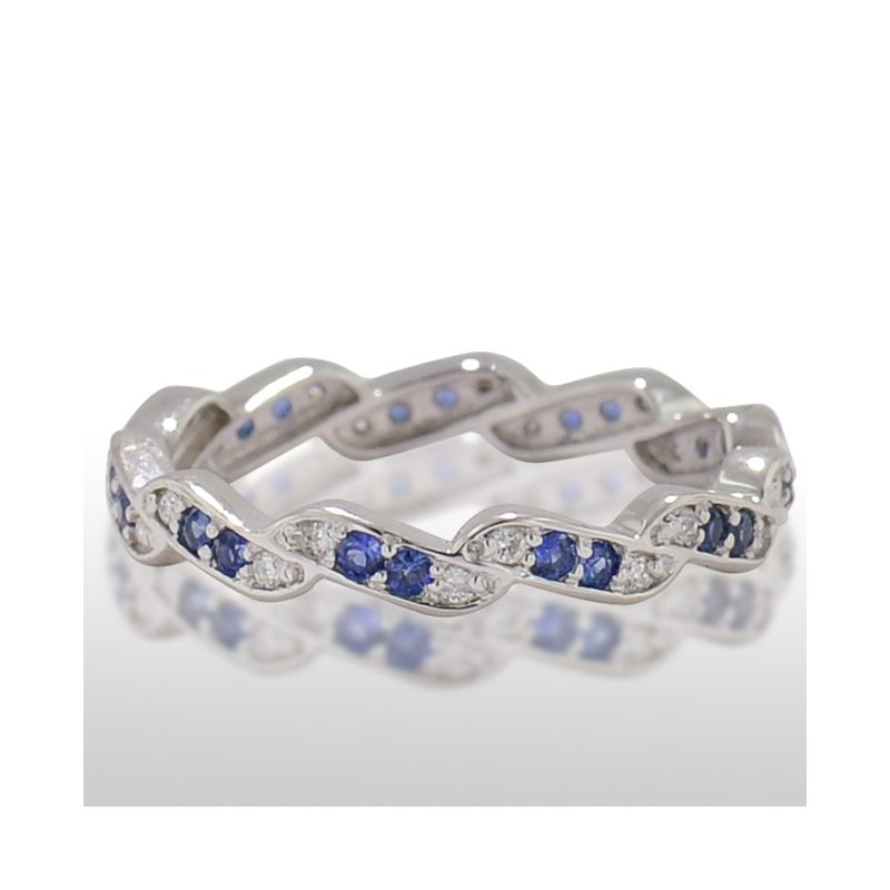 Novell Ladies' White Gold Sapphire and Diamond Ring