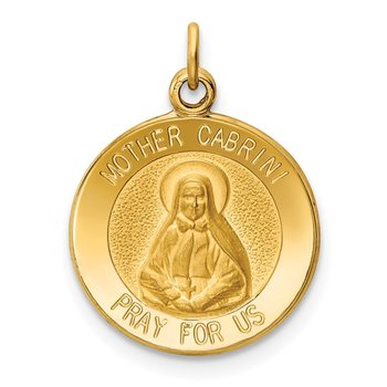 14k Mother Cabrini Medal Charm