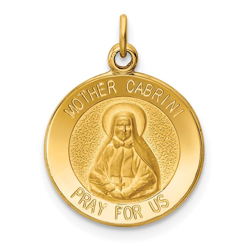 Quality Gold 14k Mother Cabrini Medal Charm