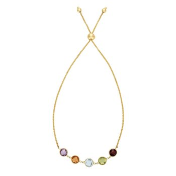 14K Gold Semi Precious Stone Friendship Bracelet