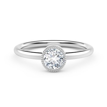 The Forevermark Tribute™Collection Milgrain Bezel Ring