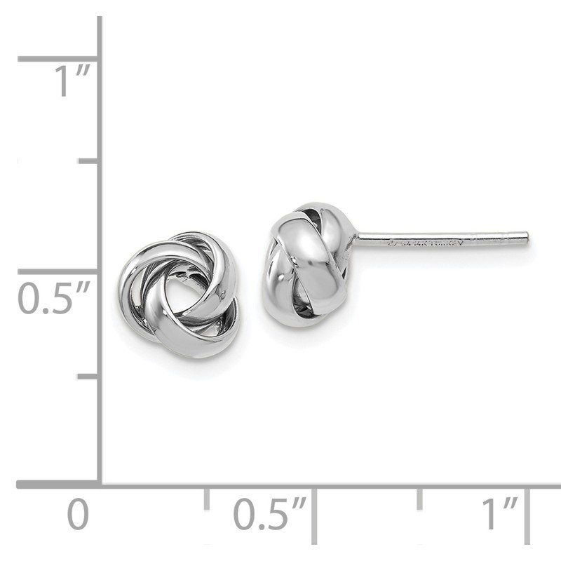 Leslie's Leslie's 14K White Gold Polished Post Earrings